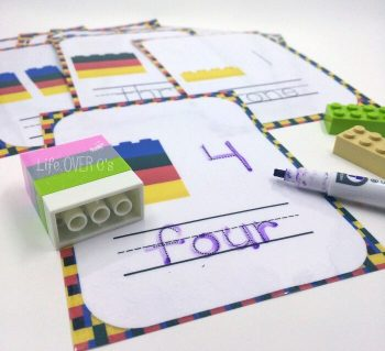 This printable set of LEGO Numbers Counting Cards is such a cute and fun hands on way to practice math! There are so many ways to use these LEGO cards such as counting, number recognition, and more!
