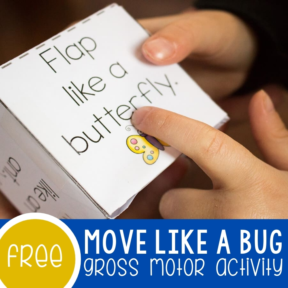 Move Like an Insect Gross Motor Activity Featured Square Image