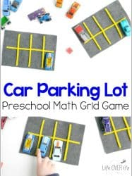 Car Parking Lot Preschool Math Grid Game