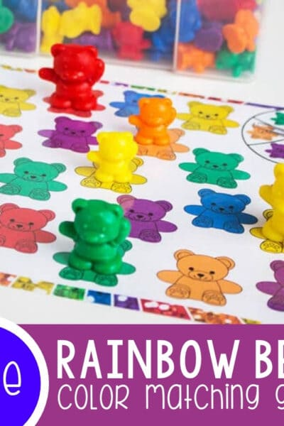 Rainbow Bear Color Matching Spinner Game Featured Square Image