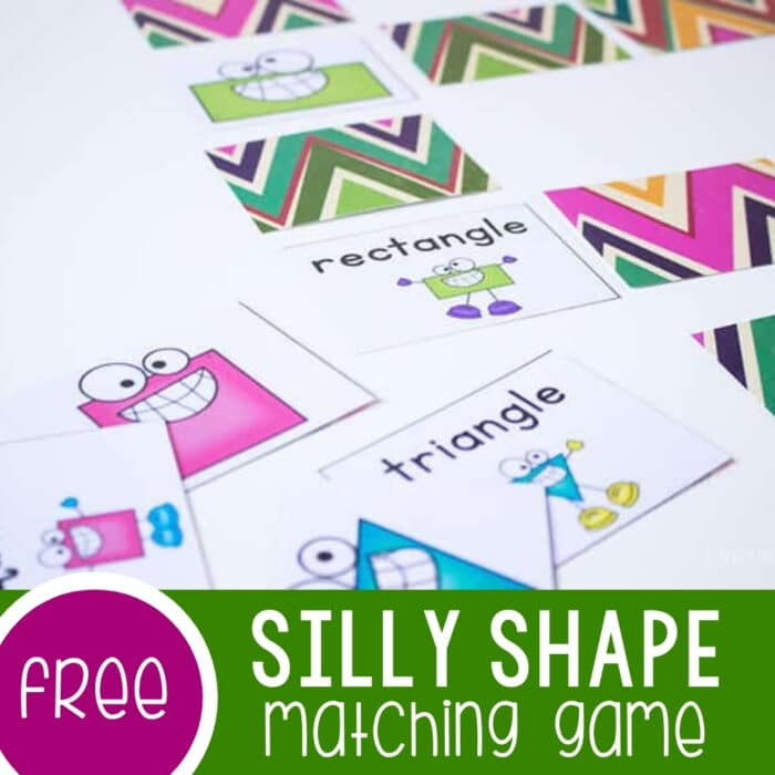Silly Shape Matching Game Featured Square Image