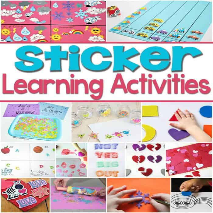 So many great learning activities with foam stickers! Matching, alphabet, math, graphing, shapes and so much more!