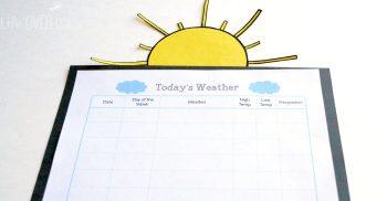 Printable Weather Chart