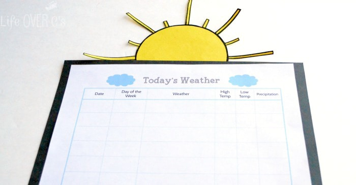 Free Printable Weather Chart Life Over Cs