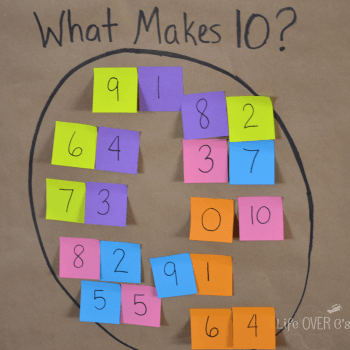 What makes ten math facts game square