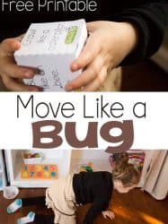 Move Like an Insect Gross Motor Activity