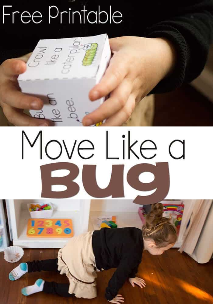 Free Printable: Move Like A Bug Gross Motor Skill Game