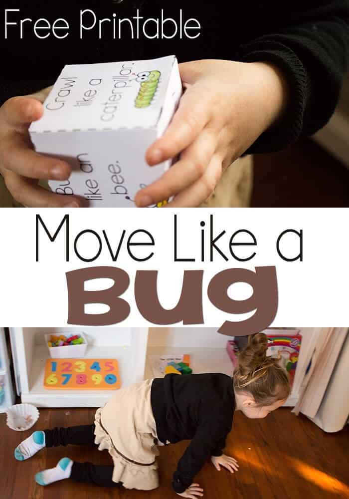 Free Printable: Move Like A Bug Gross Motor Skill Game