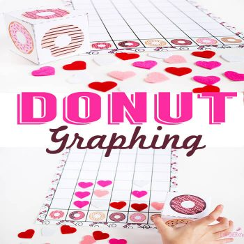 This free printable donut graphing activity is so much fun! You can use it with different grade levels too depending on how you extend the activity.