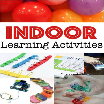 Can get outside? These indoor learning activities are perfect. Math, technology, fine-motor and more!