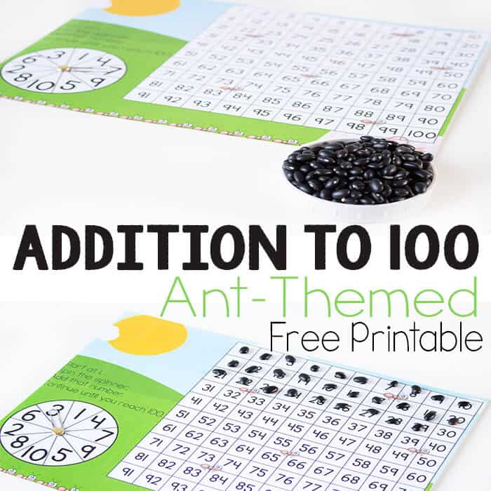 Addition is much more fun when there is a game involved! This free printable insect addition game is a great way to work on addition facts and addition with regrouping all in one game.