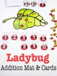 Ladybug-Themed Free Printable Adding to 10 Activity