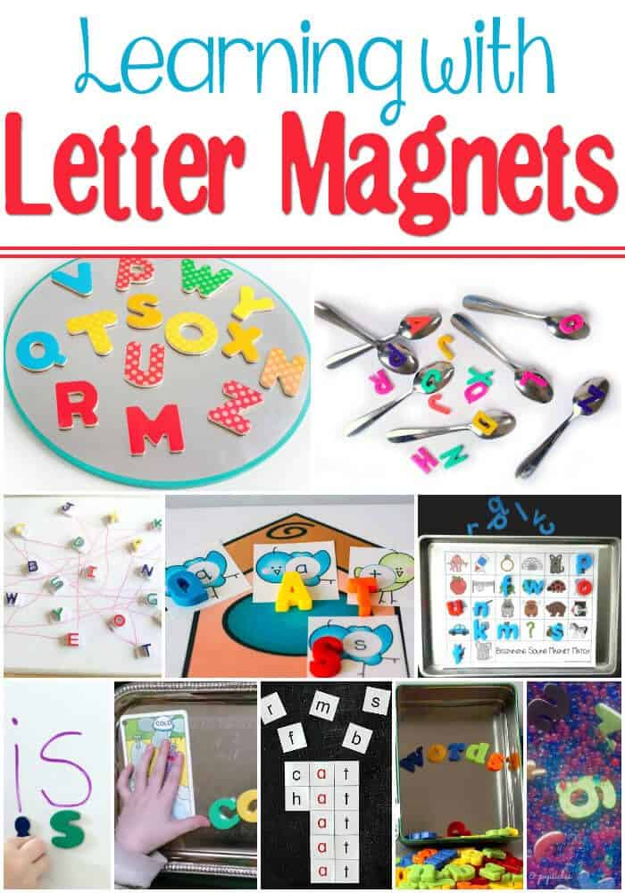 Use letter magnets to make learning more fun! Learn the alphabet, practice sight words, master word families!