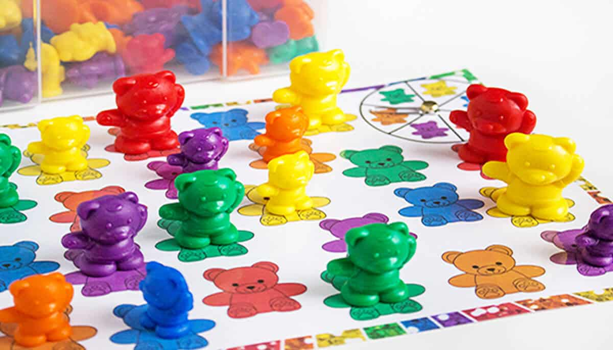 rainbow bear color matching spinner game life over cs