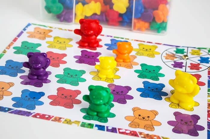 Rainbow Bear Color Matching Spinner Game - Life Over Cs