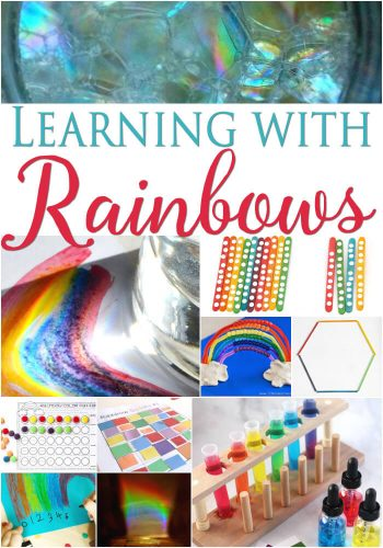 Learning with rainbow is so much fun with these rainbow activities!! Math, science and more!