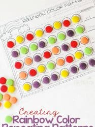 Rainbow Patterns Activity Free Printable