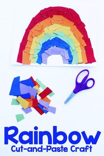 Rainbow Cut and Paste Craft