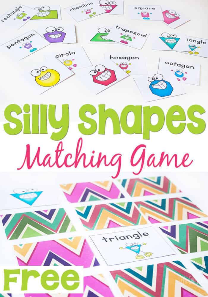 2D Shapes are so much fun to learn with this matching game! I love the tip for printing to get a colorful background!