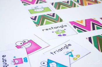 This 2D shape matching game is so much fun for kindergarteners.