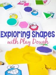 Exploring Shapes with Play Dough