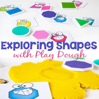 Exploring shapes with play dough is such a fun way to learn! Work on fine-motor skills while learning about 2D shapes.