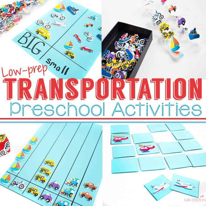 Transportation theme preschool activities life over cs for Transportation crafts for preschoolers