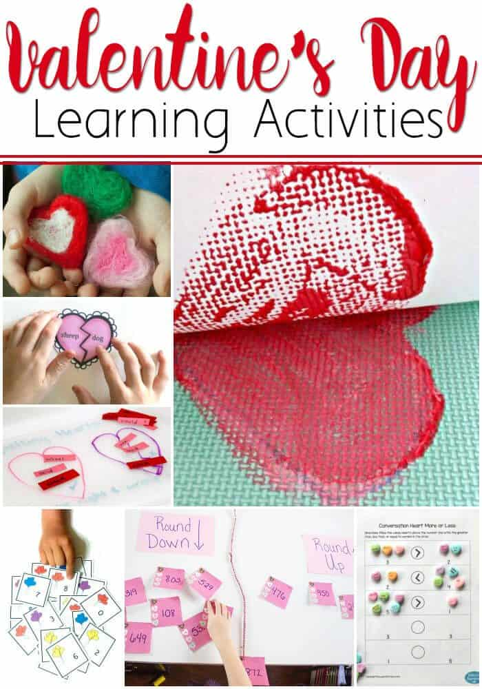 Fun learning activities for Valentine's Day! Art, math, reading & more!