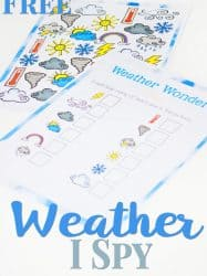 Weather I Spy Counting Activity