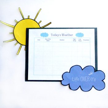This free printable weather chart makes learning about the weather so much fun! Will it rain or snow? How many days was it sunny? Learn to make predictions and interpret data with your kids!