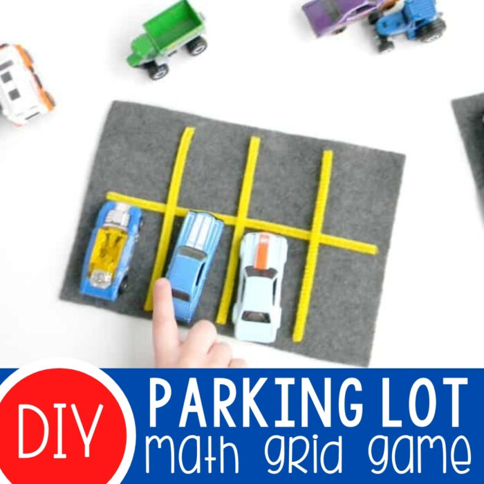 Car Parking Lot Preschool Math Grid Game Featured Square Image