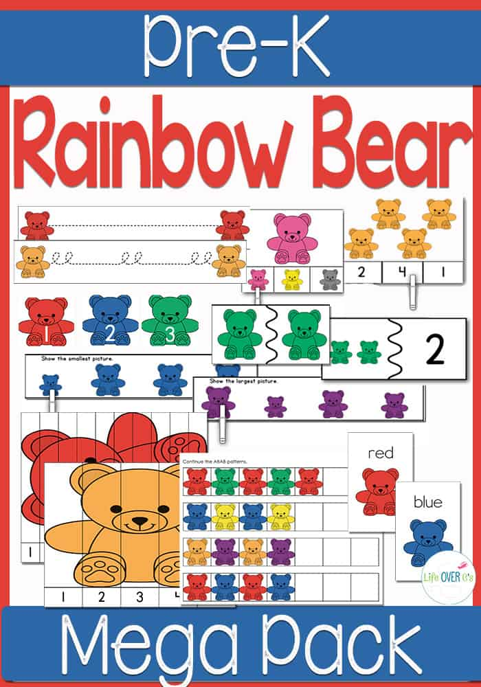 rainbow bear preschool mega pack