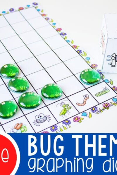 Free Printable Bug Graphing Dice Featured Square Image