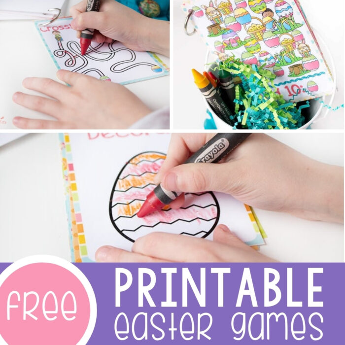 Free Printable Games for Easter Baskets Featured Square Image