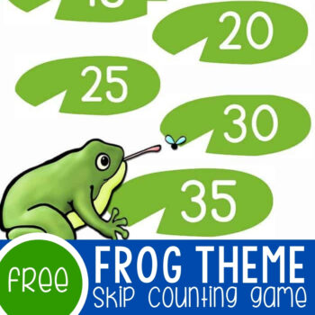 Frog Skip Counting Lily Pads Game Featured Square Image