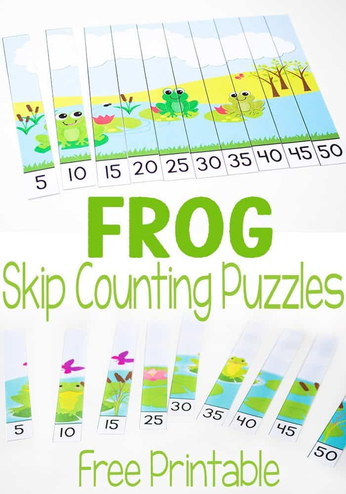These frog skip counting puzzles are so much fun! What a great way to practice skip counting by 5s. Great for a frog theme or life cycle unit!