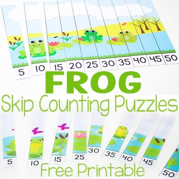 frog skip counting puzzle