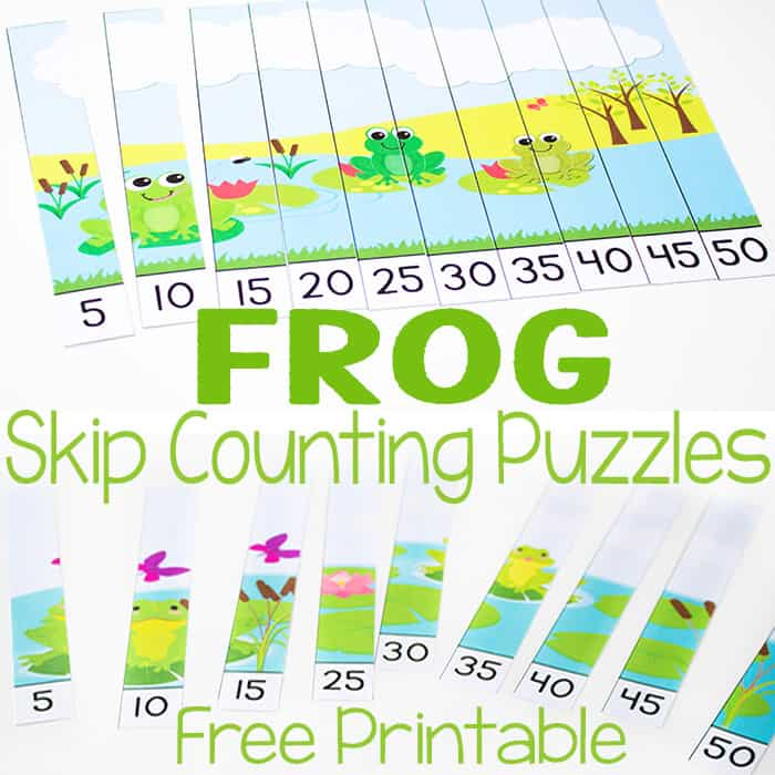Free Frog Skip Counting Puzzles