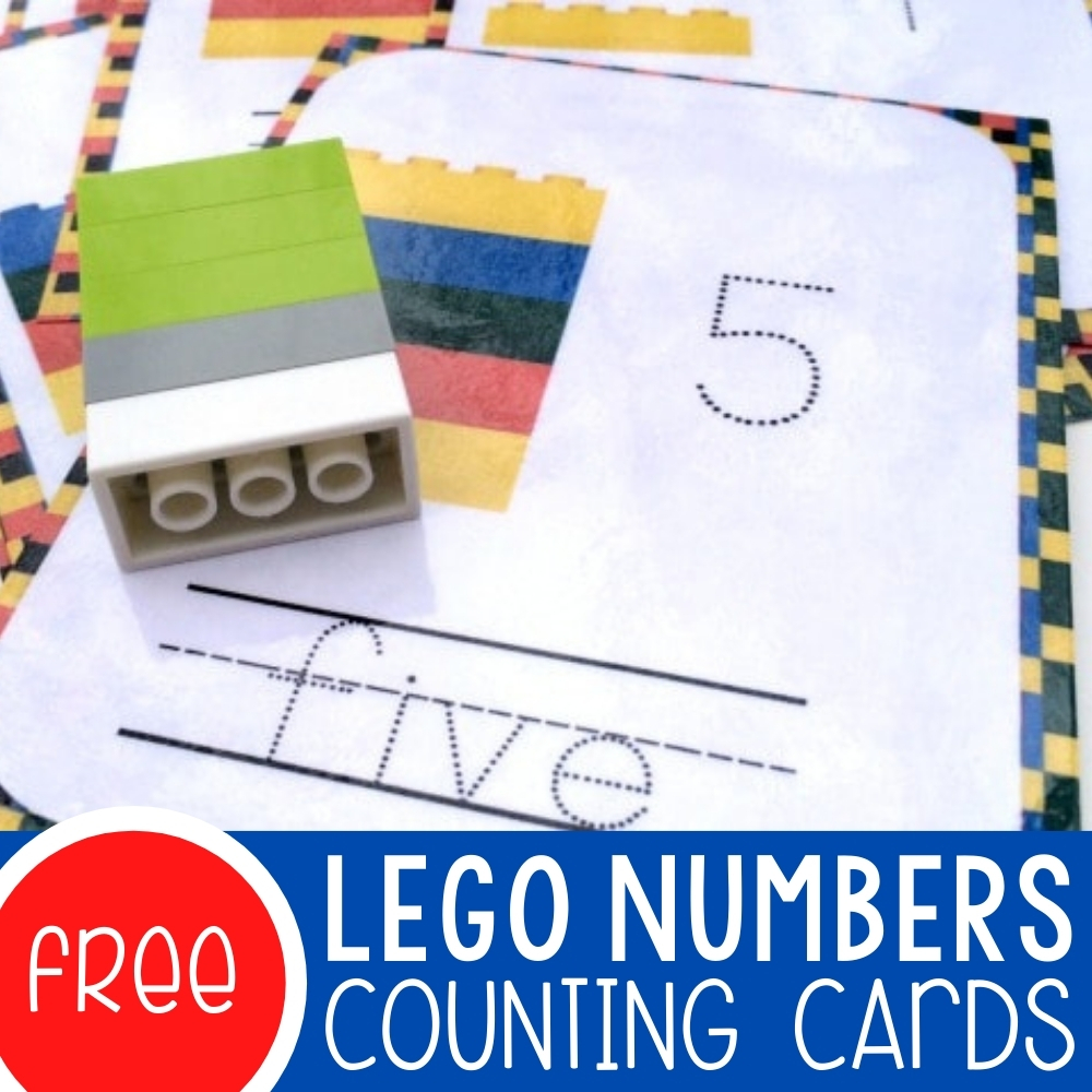 LEGO Numbers Counting Cards