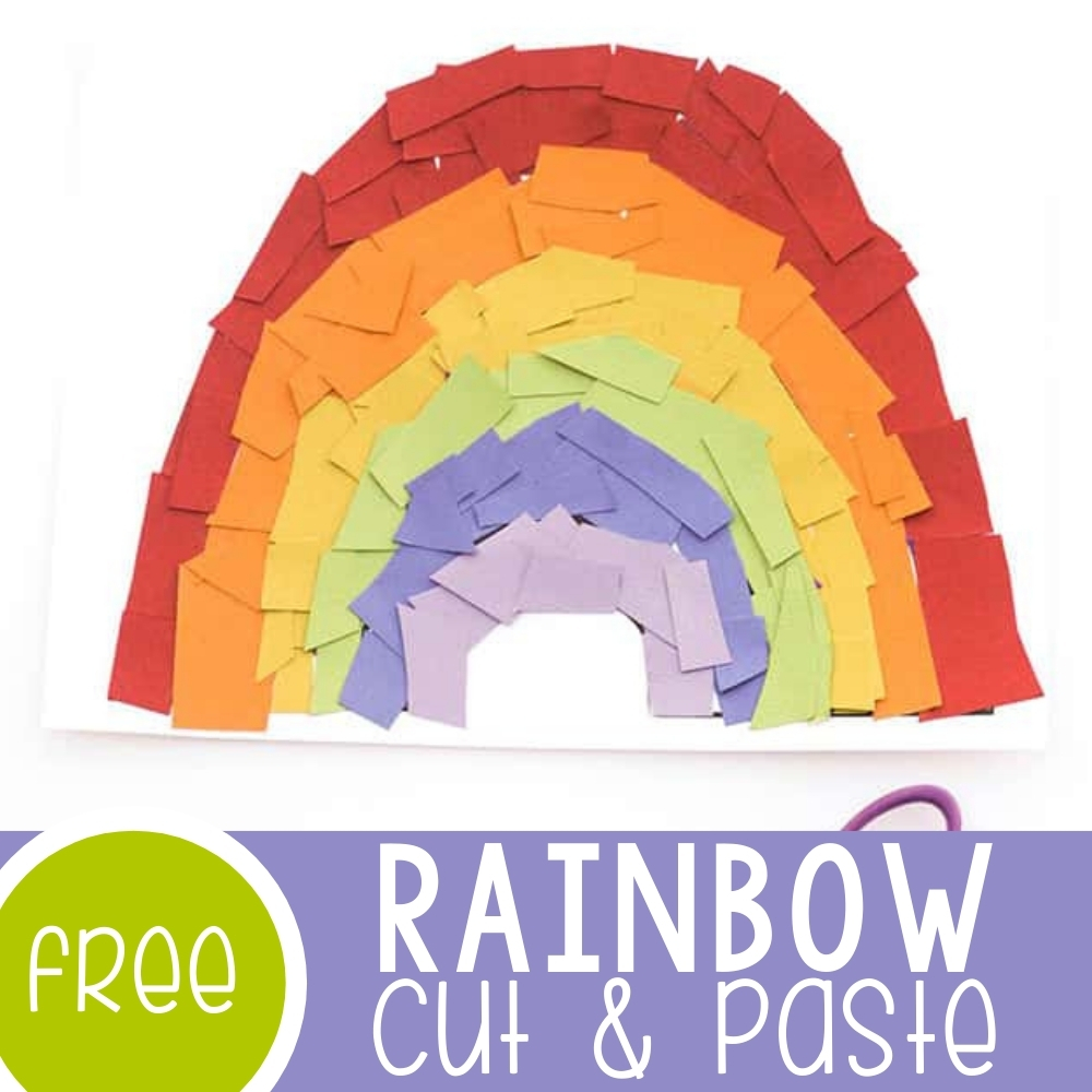 Rainbow Craft for Preschoolers Featured Square Image