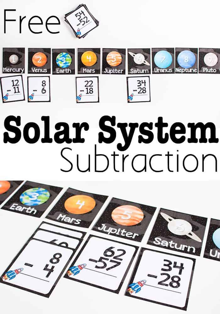 Free Printable Solar System Subtraction Activity - Life Over Cs