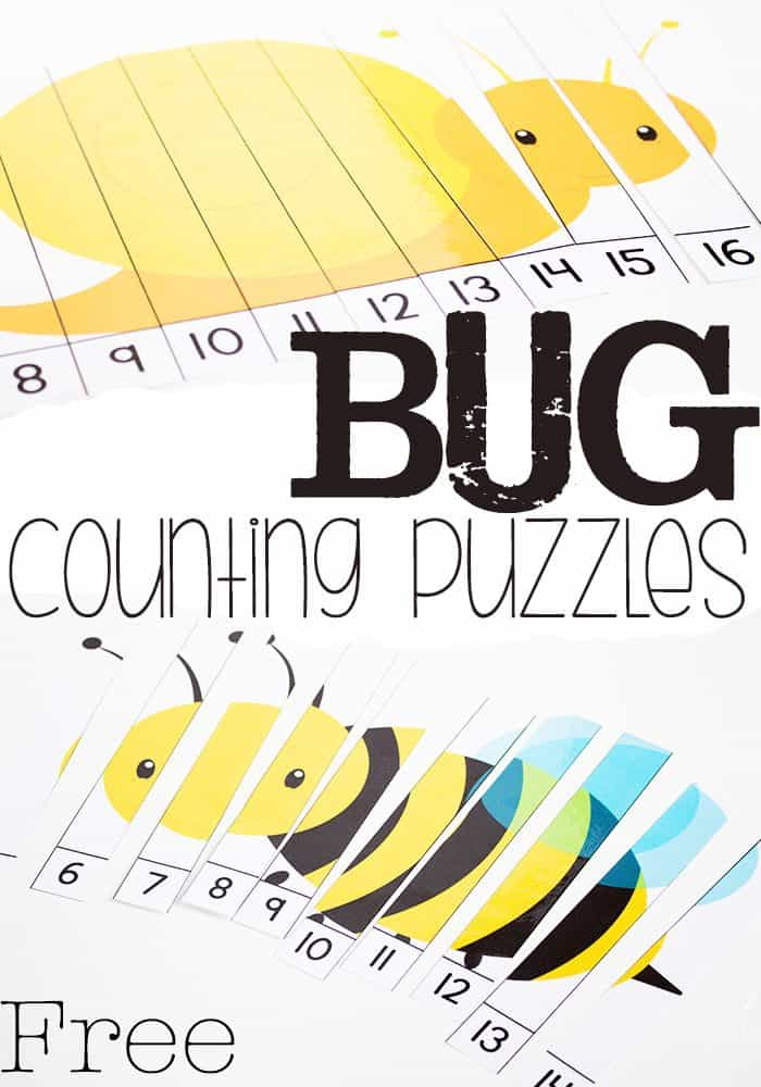 These bug skip counting puzzles are a fun math activity for spring! Skip counting to 20 with four free puzzles.