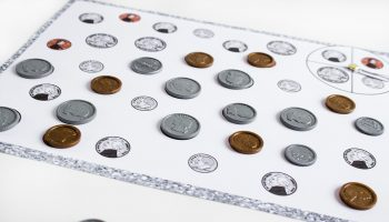 Help kids learn to recognize coins with this hands-on math game. Coin Spin & Cover is a fun way to learn what coins look like.