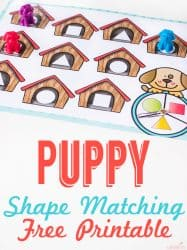 Dog House Shape Game for Preschoolers