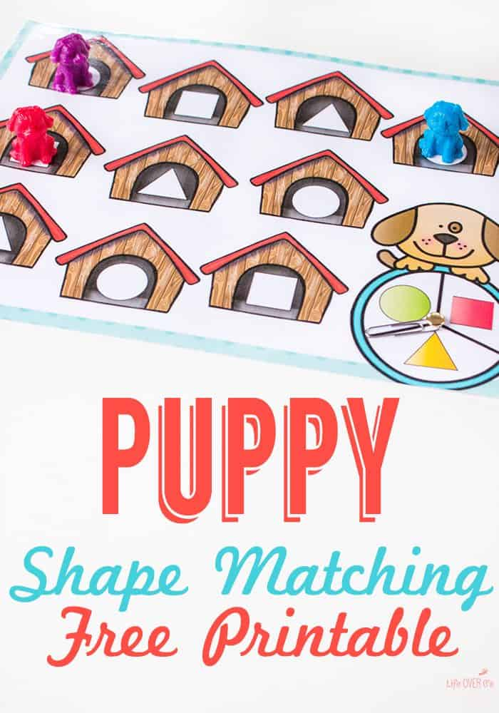 Dog House Shape Matching Activity