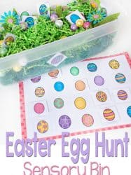 Free Printable Matching Easter Eggs Sensory Bin