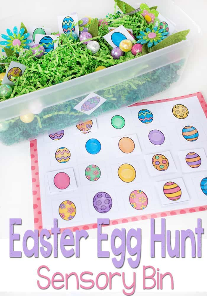 This Easter Egg Hunt Sensory bin is perfect for preschoolers who are learning to match. Work on fine motor skills while using this Easter Egg Matching Free Printable. I love the bright colors!!