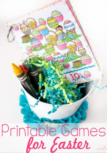 These 8 printable games for Easter baskets are the perfect non-candy Easter treat! Mazes, matching, decorating, Easter I Spy & more!! So many great, free printables!!