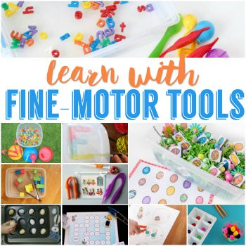 Work on lots of skills with these fine motor tool activities. Work on spelling, colors, matching, reading and more!!
