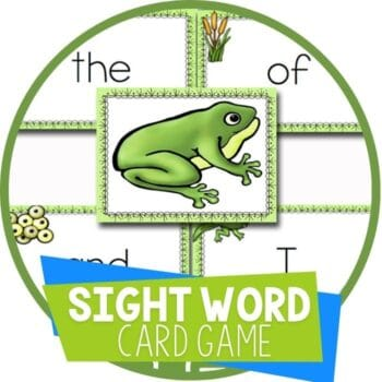frog sight word card game Featured Image